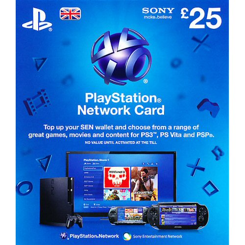 Buy Playstation Network PSN Card UK [£25] for PS3 in India at the